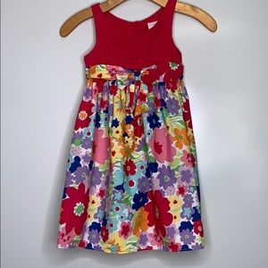 HOLIDAY EDITIONS • Girl's Cotton Floral Bow Dress